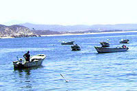 Fishing Boats at Tehuamixtle