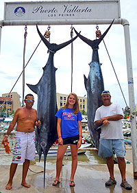 Twin Black Marlins Caught Fishing in Puerto Vallarta